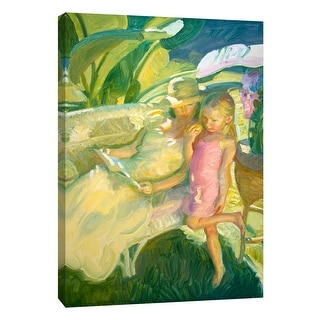 """PTM Images 9-105166  PTM Canvas Collection 10"""" x 8"""" - """"Garden Light"""" Giclee Palms Art Print on Canvas"""