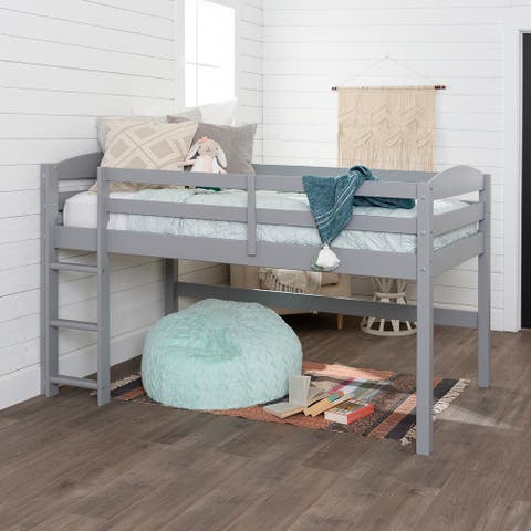 Taylor & Olive Christian Low Loft Twin Bed with Ladder