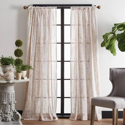 Martha Stewart Vega Poletop Curtain Panel Pair