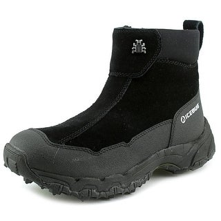 Icebug Metro-L Women Round Toe Suede Black Winter Boot