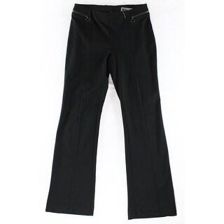 Alfani NEW Solid Black Women's Size Medium M Stretch Dress Pants