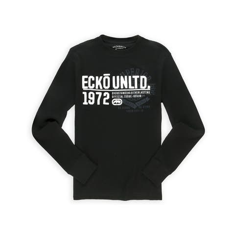 Ecko Unltd. Mens New Chest Screen Thermal Sweater