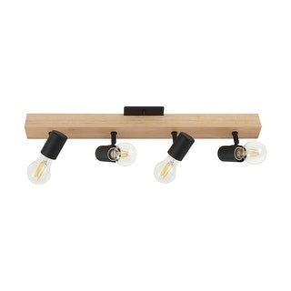 Link to Eglo Kingswood 4-Light Black and Natural Track Light Similar Items in Track Lighting