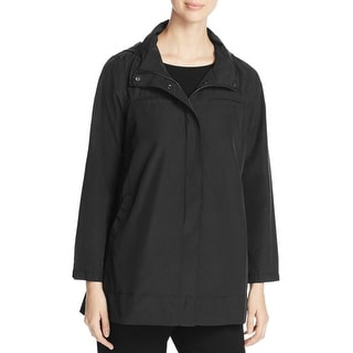 Eileen Fisher Womens Basic Jacket Button/Zip Hooded - xs