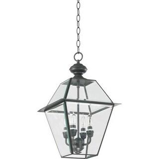 "Quorum International Q728-4 Duvall 12"" Wide 4 Light Pendant with Glass Shade"