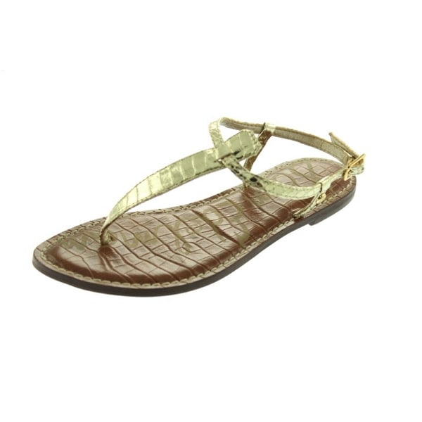 f6108e20999bf5 Shop Sam Edelman Womens Gigi Thong Sandals Metallic Snake Print ...