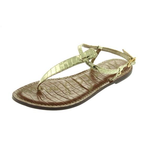 a49666dc332c5 Shop Sam Edelman Womens Gigi Thong Sandals Metallic Snake Print ...