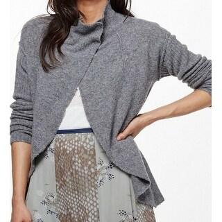 Free People NEW Gray Cascade Women's Medium M Knit Cardigan Sweater