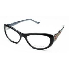Judith Leiber Women's Arabesque Eyeglasses Onyx/Horn - S