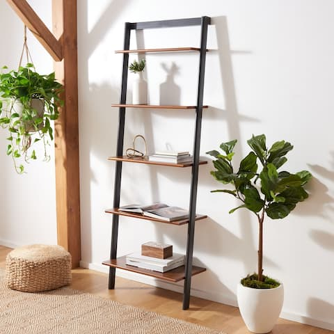 """Safavieh Cullyn 5-Tier Leaning Etagere Bookcase - 27.6"""" W x 14"""" L x 76"""" H"""