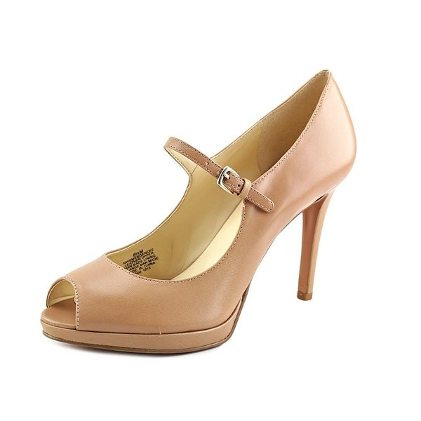 Nine West Emergencee Open-Toe Leather Heels