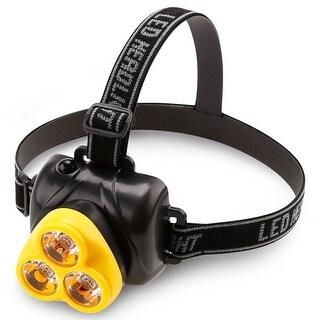 LED Headlamp, Extra Bright Adjustable Helmet Flashlight, Batteries Included