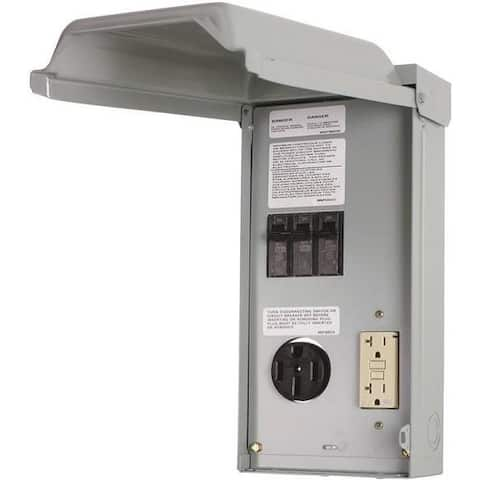 GE GE1LU502SS Unmetered RV Outlet Box, 70 Amp