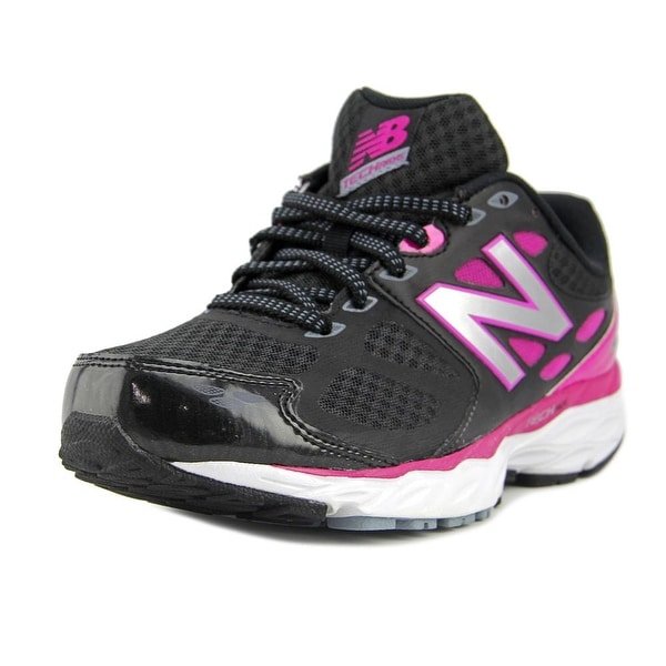 New Balance W680 Women Round Toe Synthetic Black Running Shoe