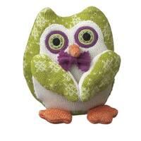 Trisha The Owl Lime Green Knit Fabric Stuffed Animal Plush