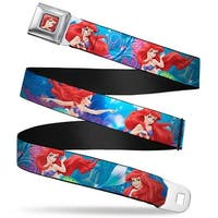 Ariel Face3 Full Color Blue Ariel Vivid Underwater Sparkle Poses Castle Seatbelt Belt