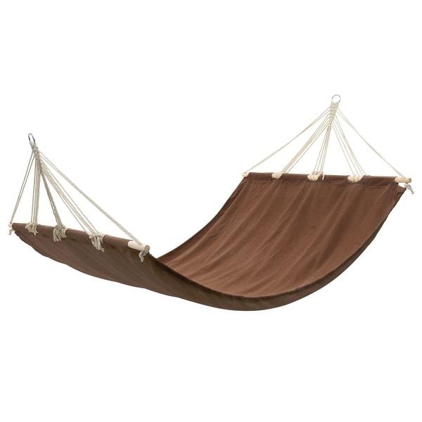 vidaXL Hanging Hammock Double Person Portable Brown Swing Chair Outdoor Seat