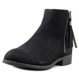 Nina Kids Puffie Youth Round Toe Leather Black Ankle Boot