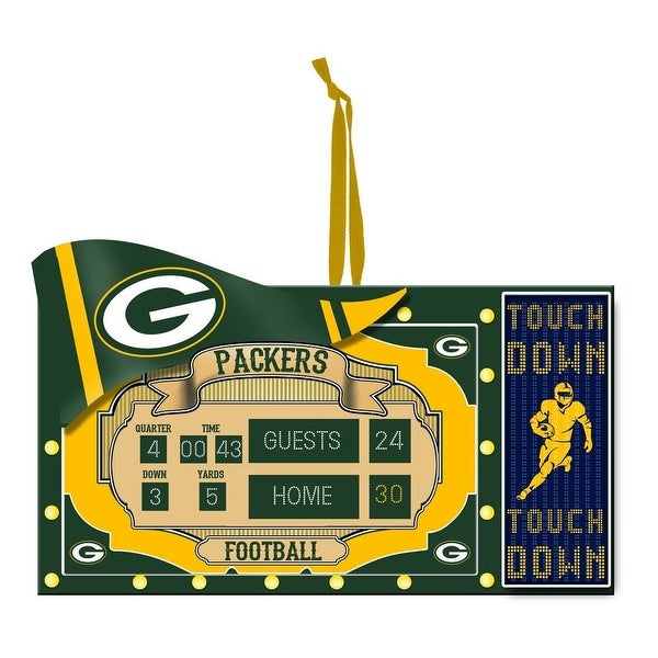Team Sports America Polystone Green Bay Packers Scoreboard Ornament