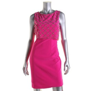 Betsy & Adam Womens Embellished A-Line Cocktail Dress - 12