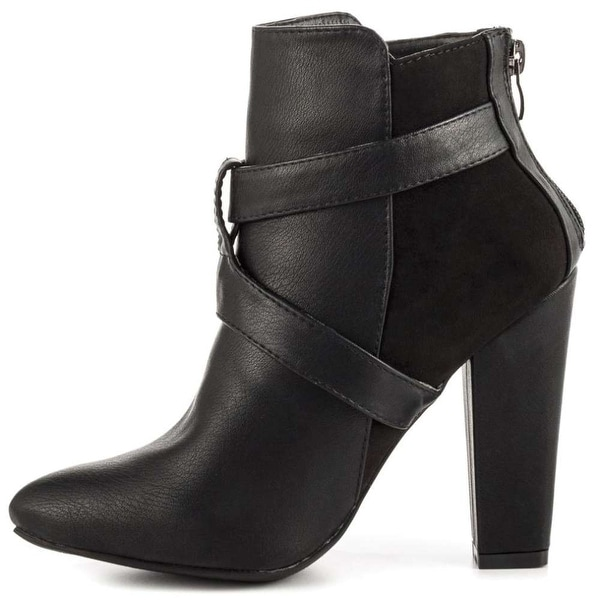 Just Fab Womens Luma Round Toe Ankle Fashion Boots
