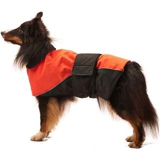 Orange Extra Large - Dog Waterproof Reflective Coat