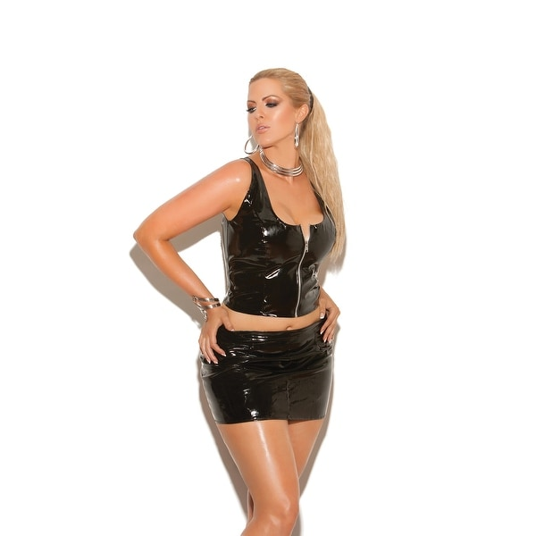 a662253e0f Shop Zip front vinyl top - Color - Black - Size - 2X - Free Shipping On  Orders Over  45 - Overstock.com - 22715001