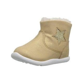 Step and Stride Girls Galicia Casual Boots Faux Leather Glitter