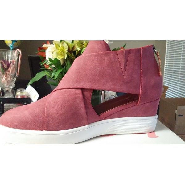 6f1aa8ea098 Shop Journee Collection Women s  Seena  Athleisure Criss-cross D orsay Sneaker  Wedges - Free Shipping Today - Overstock - 20584575