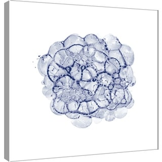 """PTM Images 9-100516  PTM Canvas Collection 12"""" x 12"""" - """"Cellular Clouds in Midnight C"""" Giclee Abstract Art Print on Canvas"""