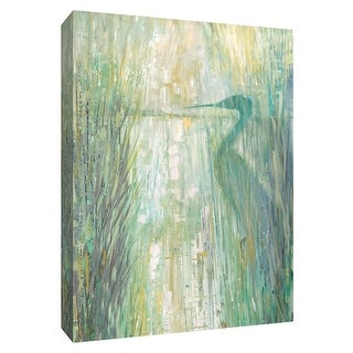 """PTM Images 9-148648  PTM Canvas Collection 10"""" x 8"""" - """"Morning Egret II"""" Giclee Birds Art Print on Canvas"""