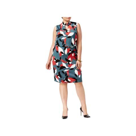 Nine West Womens Plus Wear to Work Dress Sleeveless Business