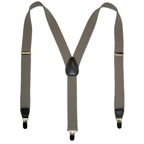 Geoffrey Beene Men's Clip-End Solid Suspenders