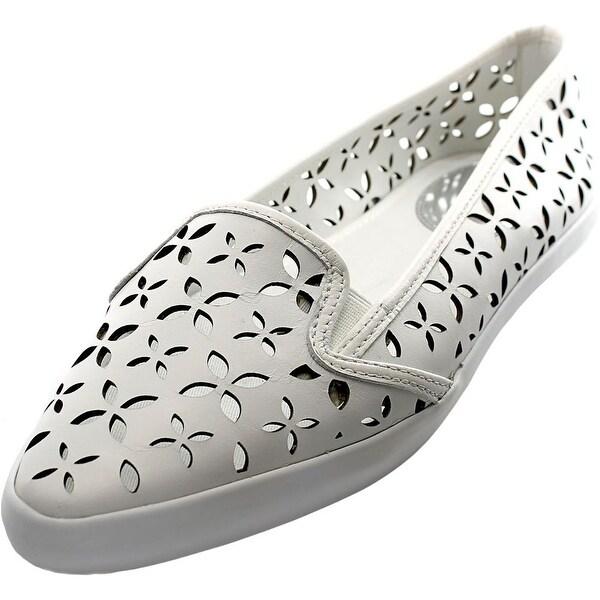 Michael Michael Kors Olive Slip-On Sneaker Women Leather White Loafer
