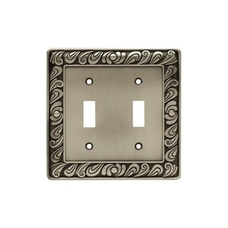 Franklin Brass 64039 Paisley Series Double Wall Plate - brushed satin pewter