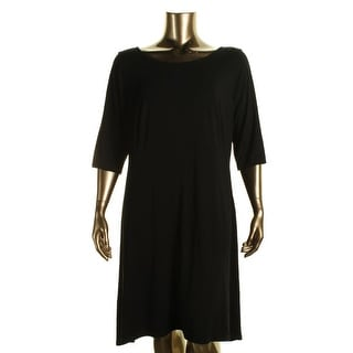 Eileen Fisher Womens Plus Knee-Length Fit & Flare Casual Dress