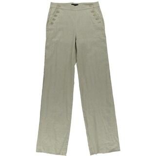 Theory Womens Linen Wide Leg Sailor Pants - 8