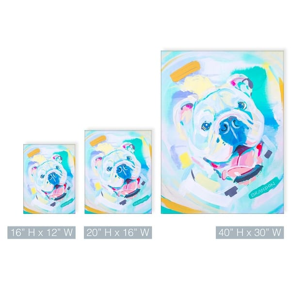 Ready2hangart Colorburst Bulldog Pet Canvas Wall Art By Brandon Thomas Overstock 31883202