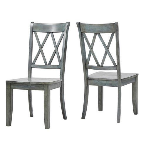 Eleanor X Back Wood Dining Chair (Set of 2) by iNSPIRE Q Classic