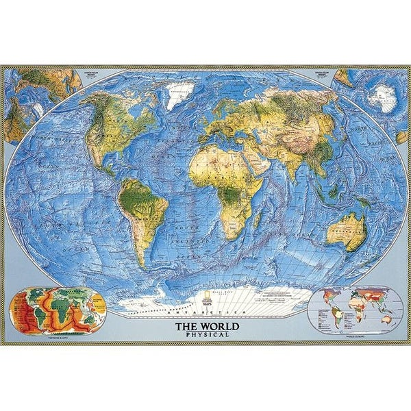 Shop National Geographic Re00622010 World Physical Ocean Floor Map