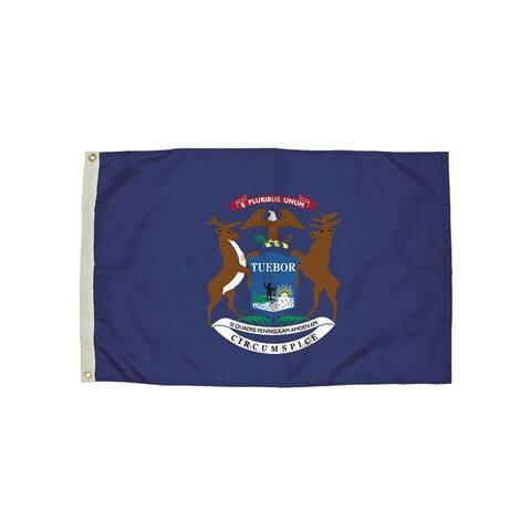 Independence flag 3x5 nylon michigan flag heading & 2212051