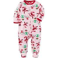 Carters 0-9 Months Santa Fleece Pajama - Pink