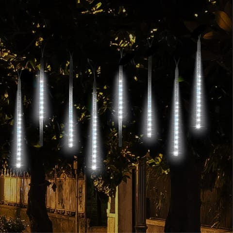 8 Pcs Meteor Shower Rain Lights, Ultra Bright Romantic LED Lights for Party, Wedding,etc. - 11.7inch
