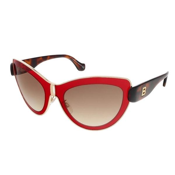 Balenciaga BA0001S 66F Red/Dark Havana Cat Eye sunglasses - red/dark havana - 56-21-140