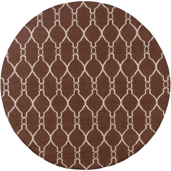 Hand-Woven Doris Moroccan Trellis Wool Area Rug. Opens flyout.