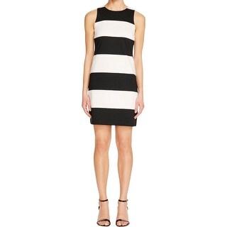 Aqua Womens Casual Dress Ponte Striped