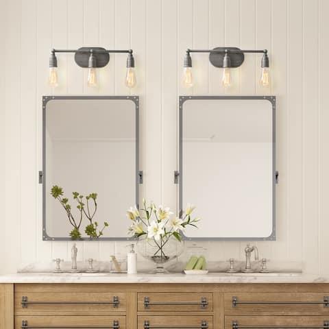 "Carbon Loft Colby 3-light Bathroom Vanity Lights Silver Wall Sconces - W19.3""x H4.7""x E4.3"""