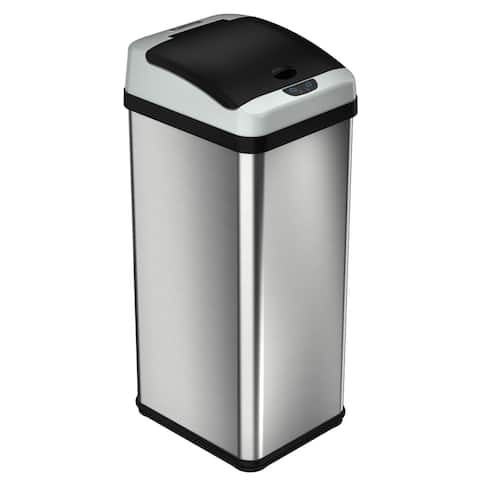iTouchless 13 Gal. Touchless Trash Can with Odor Control System, Platinum Limited Edition