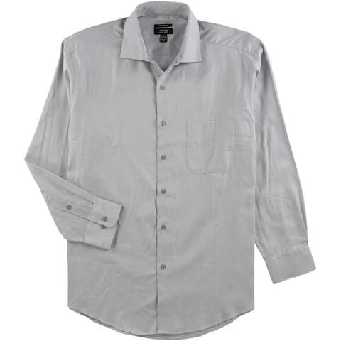 Alfani Mens Performance Stretch Button Up Dress Shirt