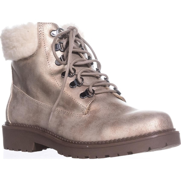 ESPRIT Candis Wool Cuff Casual Work Boots, Gold